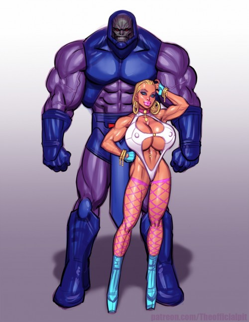 John Persons- Power Girl vs Darkseid- ThePit