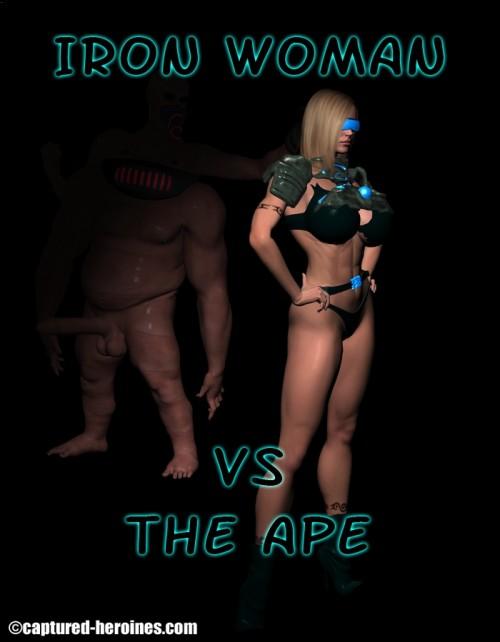 Iron Woman vs the Ape Part 1-7 – Captured Heroine