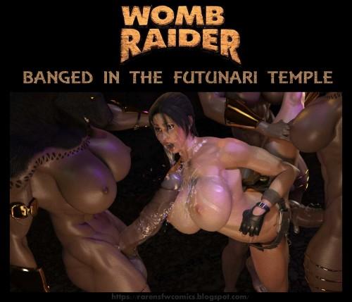 Womb Raider- Lara Banged in the Futunari Temple