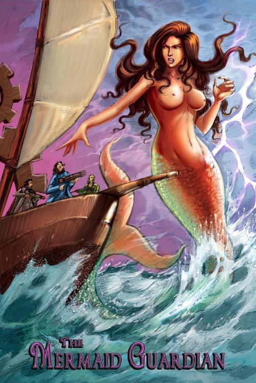 The Mermaid Guardian- Giantess Fan