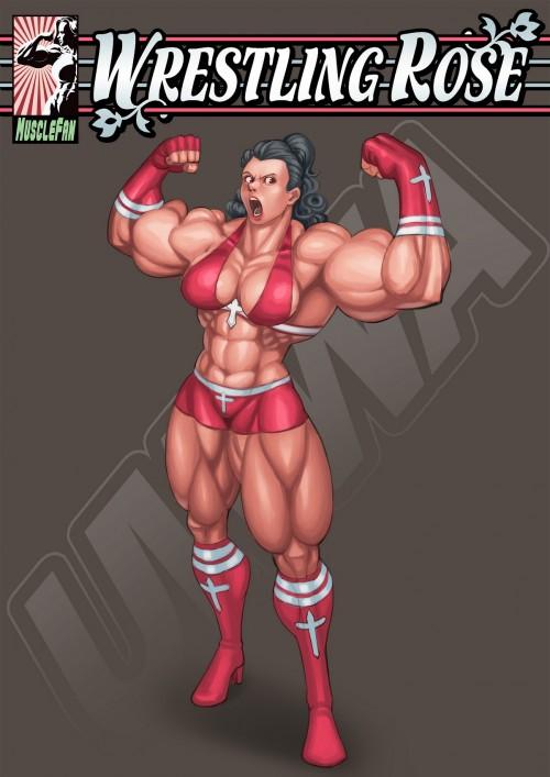 Wrestling Rose- Muscle Fan